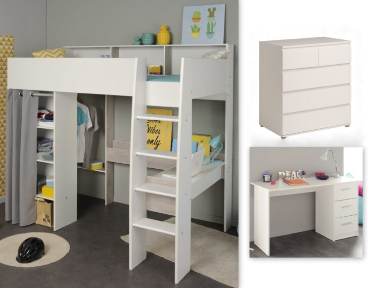Medium Size of Kinderzimmer Set 3 Tlg Inkl 90x200 Hochbett Regale Regal Weiß Sofa Kinderzimmer Hochbetten Kinderzimmer
