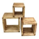 Regale Holz 3er Set Regal Cube 44x35cm Holzregal Board Used Design Cd Garten Holzhaus Keller Nach Maß Weiß Selber Bauen Fenster Alu Betten Holzbank Regal Regale Holz