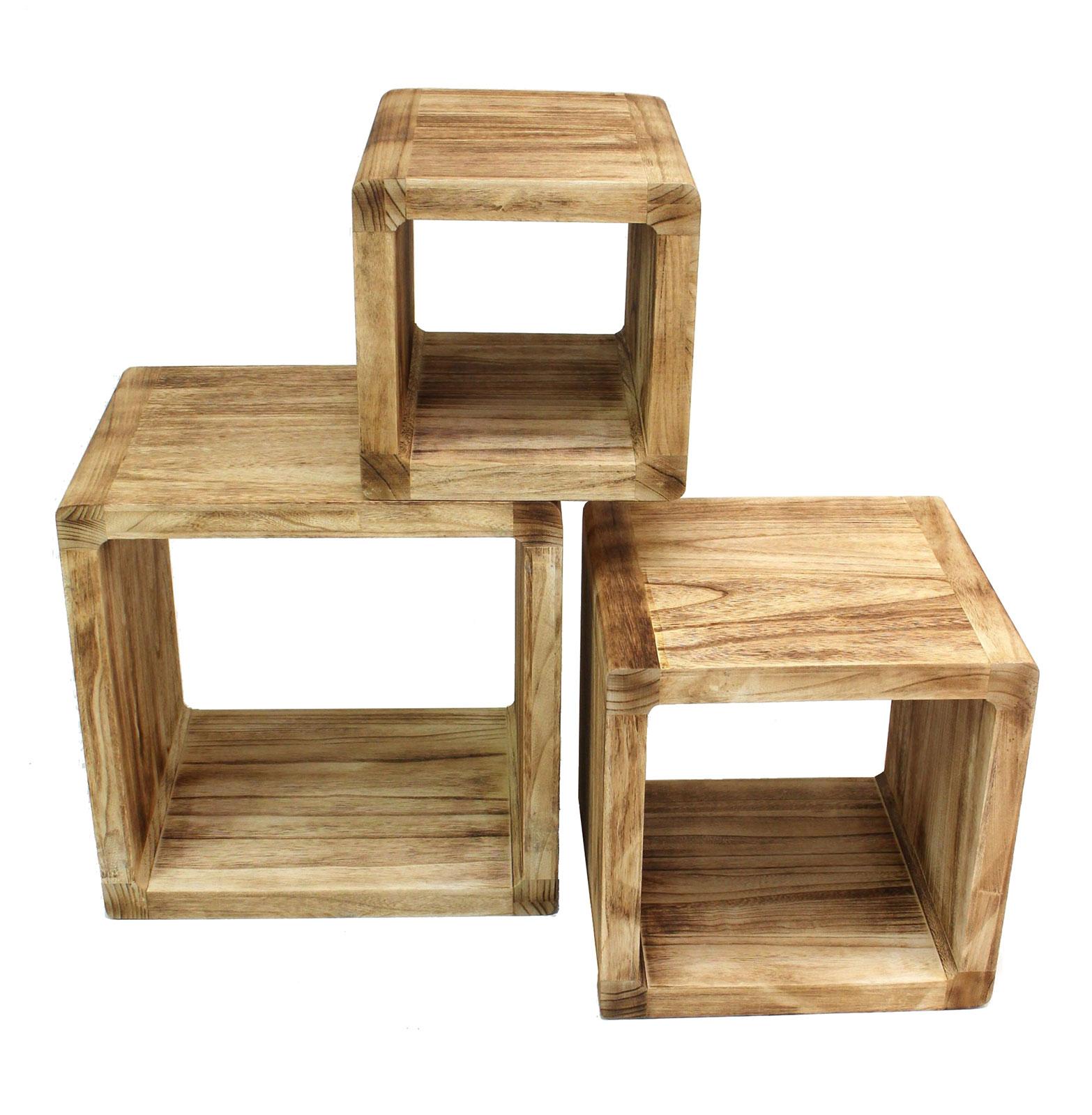 Full Size of Regale Holz 3er Set Regal Cube 44x35cm Holzregal Board Used Design Cd Garten Holzhaus Keller Nach Maß Weiß Selber Bauen Fenster Alu Betten Holzbank Regal Regale Holz