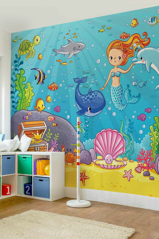 Full Size of Fototapeten Kinderzimmer Tapete Vliestapeten Premium Meerjungfrau Regal Sofa Weiß Regale Wohnzimmer Kinderzimmer Fototapeten Kinderzimmer