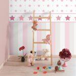 Bordüren Kinderzimmer Bordre Sterne Rosa Raschtextil Lovely Little Regal Weiß Regale Sofa Kinderzimmer Bordüren Kinderzimmer