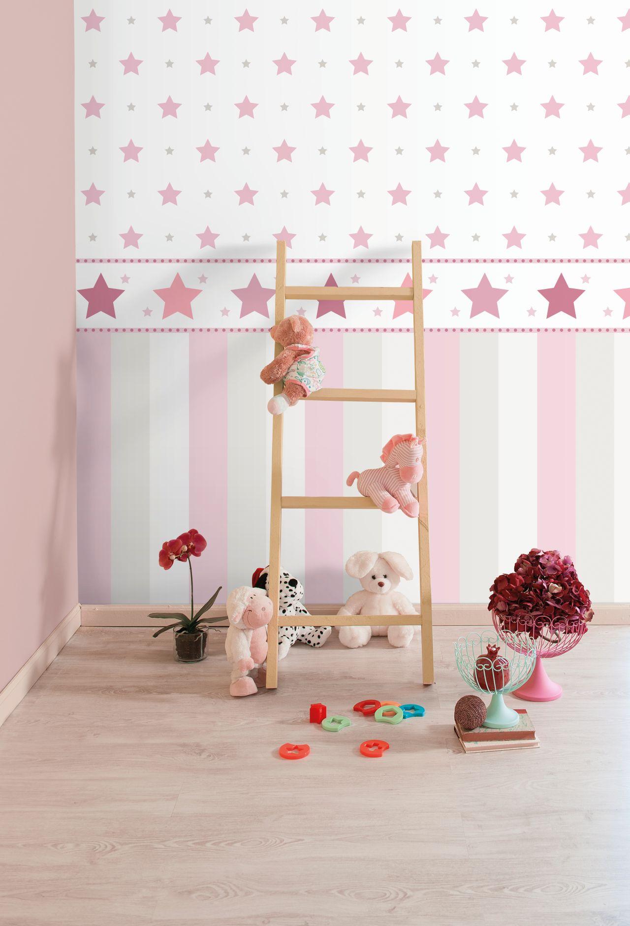 Full Size of Bordüren Kinderzimmer Bordre Sterne Rosa Raschtextil Lovely Little Regal Weiß Regale Sofa Kinderzimmer Bordüren Kinderzimmer