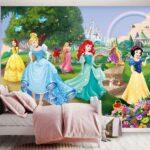 Fototapeten Kinderzimmer Fototapete Disney Prinzessinnen Schloss Tapetenwelt Regal Weiß Wohnzimmer Regale Sofa Kinderzimmer Fototapeten Kinderzimmer