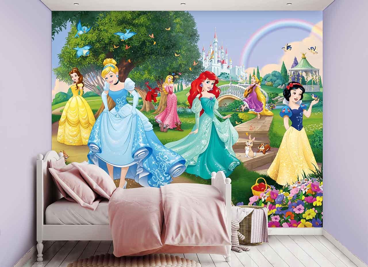 Full Size of Fototapeten Kinderzimmer Fototapete Disney Prinzessinnen Schloss Tapetenwelt Regal Weiß Wohnzimmer Regale Sofa Kinderzimmer Fototapeten Kinderzimmer