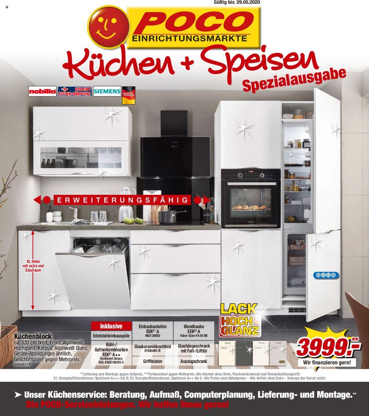 Full Size of Poco Küchen Kchen Speisen 08022020 29052020 Schlafzimmer Komplett Big Sofa Betten Regal Bett Küche 140x200 Wohnzimmer Poco Küchen