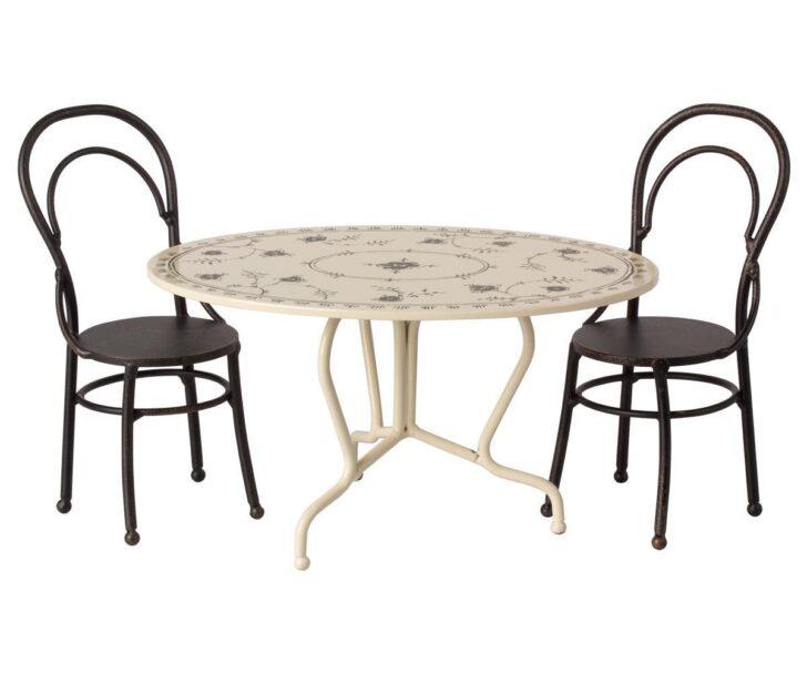 Maileg Esstisch Set Sitzgruppe Tisch Und Zwei Sthle Metall Dinin Kleine Esstische Massiver Massivholz Runder Ausziehbar Weiß Esstischstühle Buche Shabby Mit Esstische Esstisch Stühle