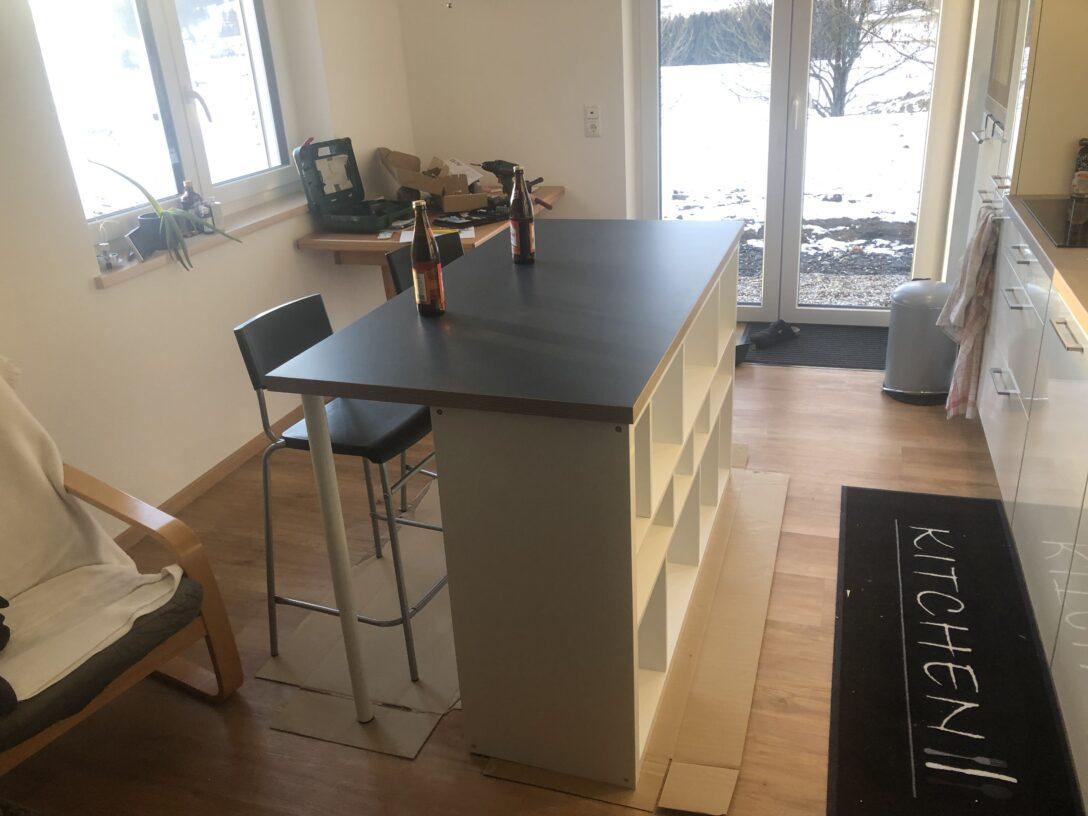 Large Size of Kcheninsel Diy Mit Ikea Produkten Wohnzimmer Kücheninsel