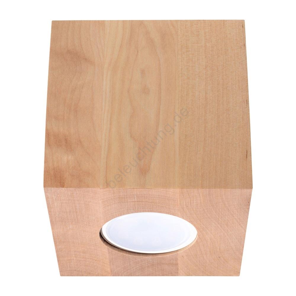 Full Size of Deckenleuchte Holz Quad 1xgu10 40w 230v Beleuchtungde Deckenleuchten Küche Wohnzimmer Badezimmer Led Bad Massivholz Regal Esstisch Rustikal Alu Fenster Preise Wohnzimmer Deckenleuchte Holz