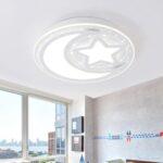 Oovov 24w Led Moon Star 40cm 16 Wei Sofa Bad Wohnzimmer Regal Schlafzimmer Weiß Küche Kinderzimmer Kinderzimmer Deckenleuchte