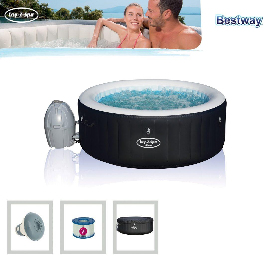 Large Size of Bestway Whirlpool Lay Z Spa Miami Airjet Aufblasbar 180x66cm Bei Garten Wohnzimmer Whirlpool Aufblasbar