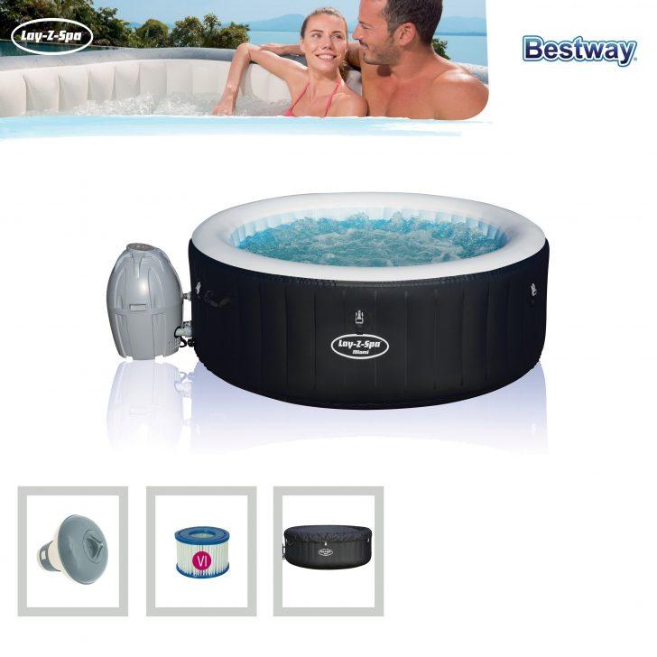 Medium Size of Bestway Whirlpool Lay Z Spa Miami Airjet Aufblasbar 180x66cm Bei Garten Wohnzimmer Whirlpool Aufblasbar