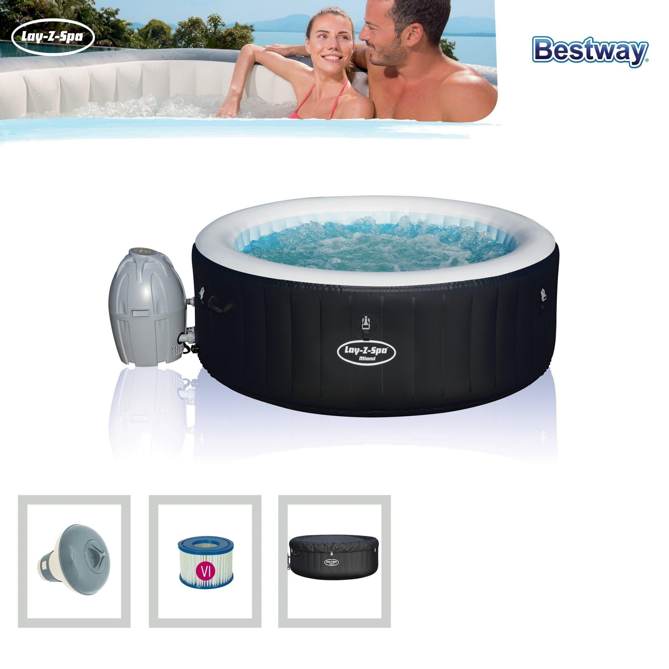 Full Size of Bestway Whirlpool Lay Z Spa Miami Airjet Aufblasbar 180x66cm Bei Garten Wohnzimmer Whirlpool Aufblasbar