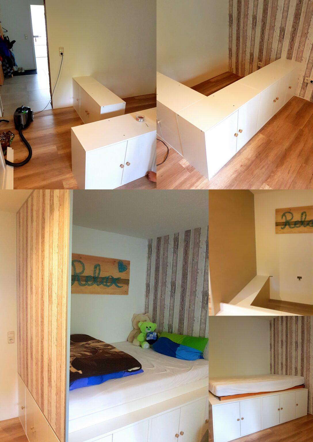Large Size of Ikea Jugendzimmer Diy Hochbett Mit Kchenschrnken Als Unterbau Betten 160x200 Sofa Miniküche Küche Kaufen Kosten Schlaffunktion Bett Bei Modulküche Wohnzimmer Ikea Jugendzimmer