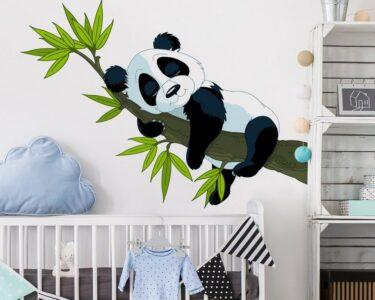 Wandtatoo Kinderzimmer Kinderzimmer Wandtatoo Kinderzimmer Bilderwelten Wandtattoo Schlafender Panda Online Sofa Regal Weiß Regale Küche