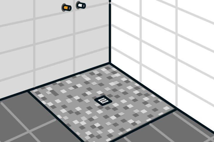 Medium Size of Bodengleiche Dusche Einbauen Punktentwsserung Anleitung Von Barrierefreie Hüppe Sprinz Duschen Antirutschmatte Einhebelmischer Breuer Unterputz Armatur Kleine Dusche Bodengleiche Dusche