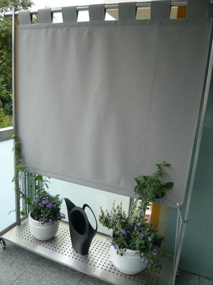 Medium Size of Paravent Balkon Mit Stoffbespannung Fr Den Outdoor Vorhnge Garten Wohnzimmer Paravent Balkon