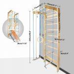 Sprossenwand Kletterwand Turnwand Klettergerst Klettergerüst Garten Wohnzimmer Klettergerüst Indoor