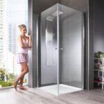 Eckdusche Florenz Bodengleiche Dusche Unterputz Armatur Begehbare Ohne Tür Koralle Nischentür Rainshower Fliesen Bodenebene Wand Glaswand Einbauen Dusche Eckeinstieg Dusche