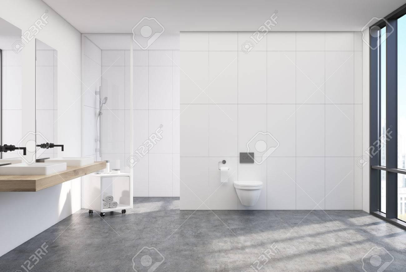 Full Size of Weie Toilette Interieur Mit Einem Vertikalen Plakat Fliesen Für Dusche Glaswand Küche Begehbare Ohne Tür Duschen Eckeinstieg Wand Unterputz Armatur Anal Dusche Glaswand Dusche