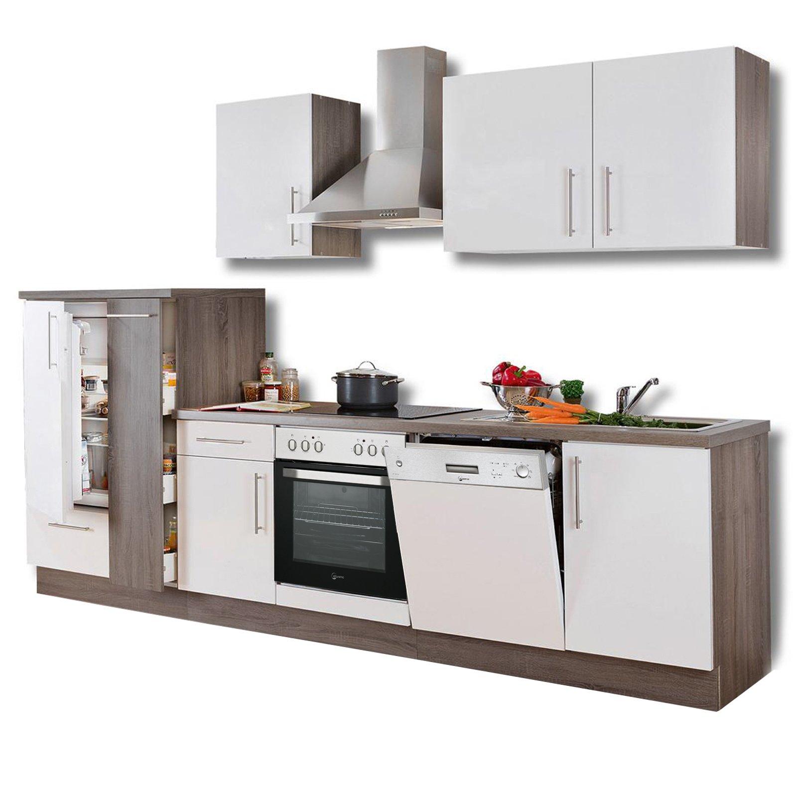 Full Size of Roller Küchen Kchenblock Wei Hochglanz Trffel 310 Cm Online Bei Regal Regale Wohnzimmer Roller Küchen