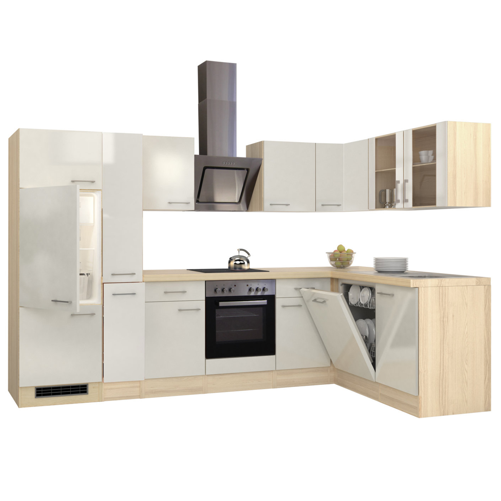 Full Size of Roller Küchen Winkelkche Abaco Perlmutt Akazie Mit E Gerten 310x170 Cm Regale Regal Wohnzimmer Roller Küchen