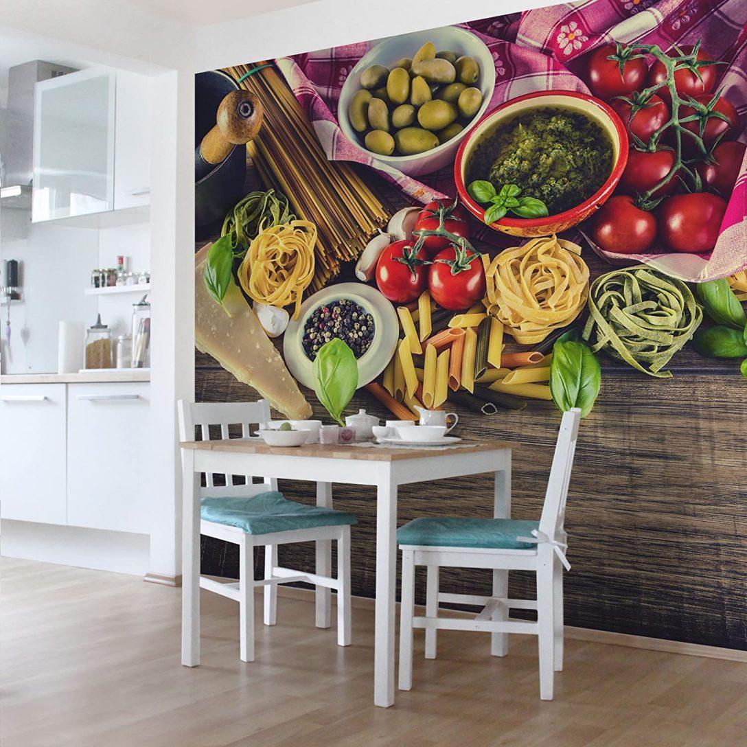 Large Size of Küchentapeten Vliestapete Kchentapeten Pasta Fototapete Quadrat Vlies Tapete Wohnzimmer Küchentapeten