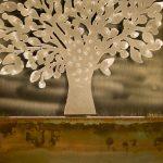 Wanddeko Modern Baum Braun Silber Design Xxl Handgefertigt Esstisch Deckenlampen Wohnzimmer Modernes Sofa Bilder Tapete Küche Weiss Bett 180x200 Moderne Wohnzimmer Wanddeko Modern