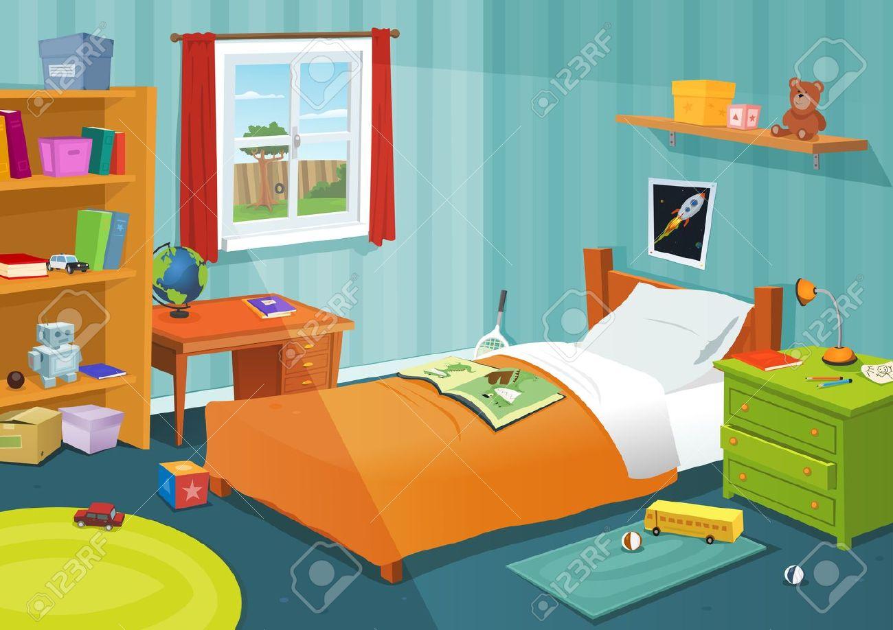 Full Size of Bücherregal Illustration Einer Karikatur Mit Jungen Ein Regale Regal Weiß Sofa Kinderzimmer Kinderzimmer Bücherregal