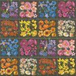 Küchentapete Kchentapete Rasch Kacheln Blumen Dunkelgrau Bunt 303414 Wohnzimmer Küchentapete