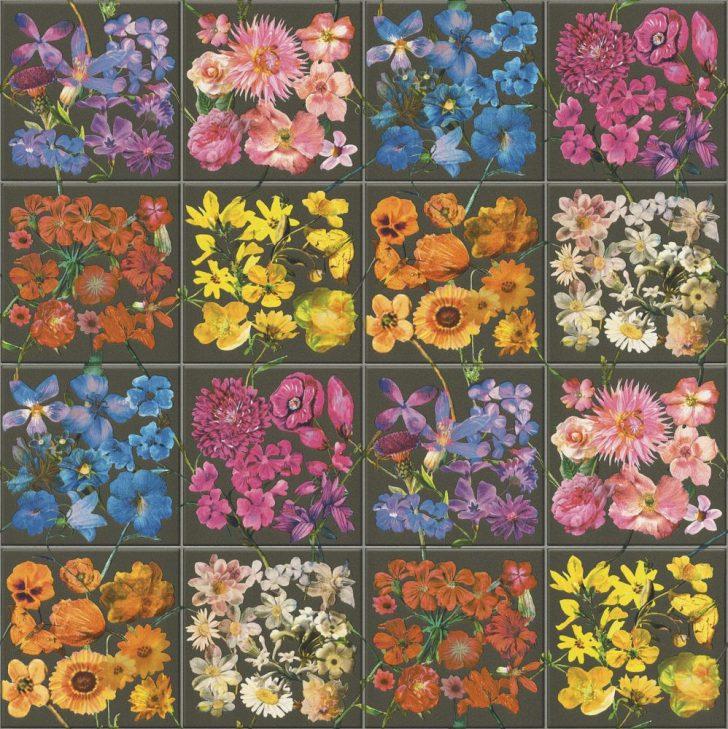 Medium Size of Küchentapete Kchentapete Rasch Kacheln Blumen Dunkelgrau Bunt 303414 Wohnzimmer Küchentapete