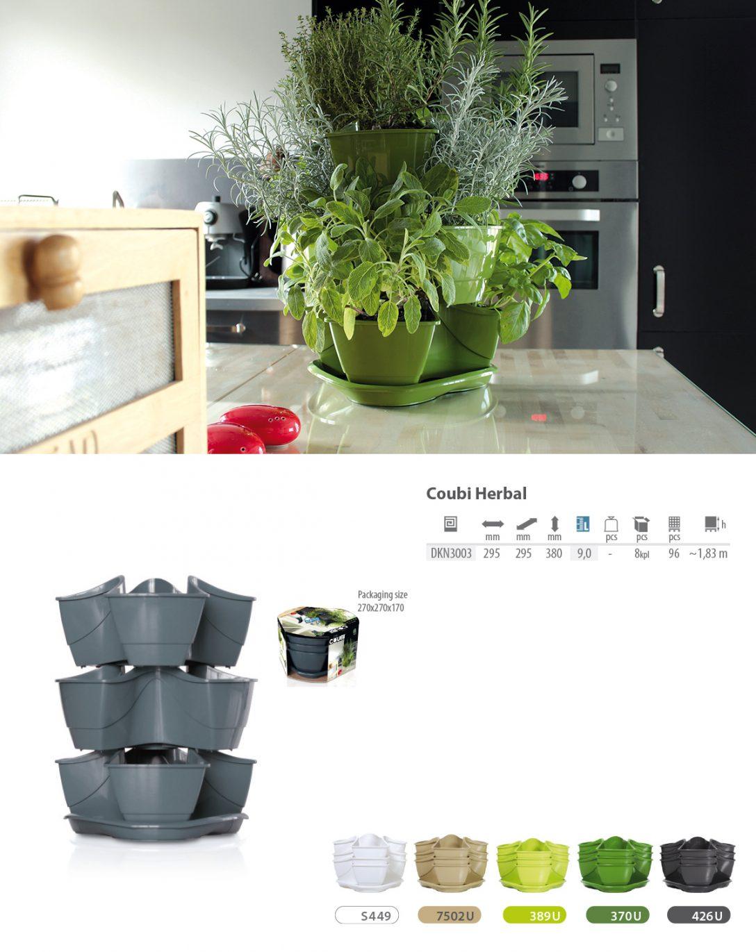 Large Size of Kräutertopf Krutertopf Coubi Prosperplast Küche Wohnzimmer Kräutertopf