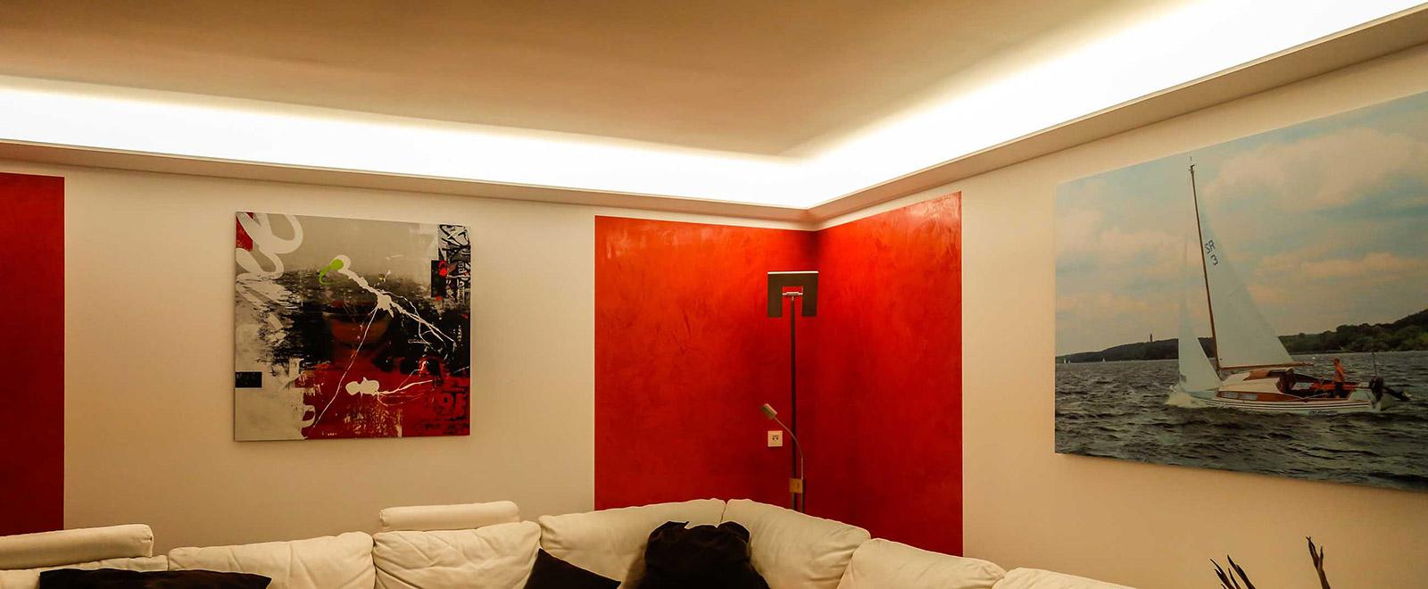 Full Size of Indirekte Beleuchtung Der Decke Mit Stuckleisten Lichtvouten Bendu Bett Deckenlampe Schlafzimmer Esstisch Deckenleuchten Deckenleuchte Wohnzimmer Decken Wohnzimmer Indirekte Beleuchtung Decke