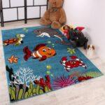 Teppiche Für Kinderzimmer Kinderteppich Clown Fisch Aqua Teppich Real Spielgeräte Den Garten Regal Ordner Such Frau Fürs Bett Tapeten Küche Bilder Kinderzimmer Teppiche Für Kinderzimmer