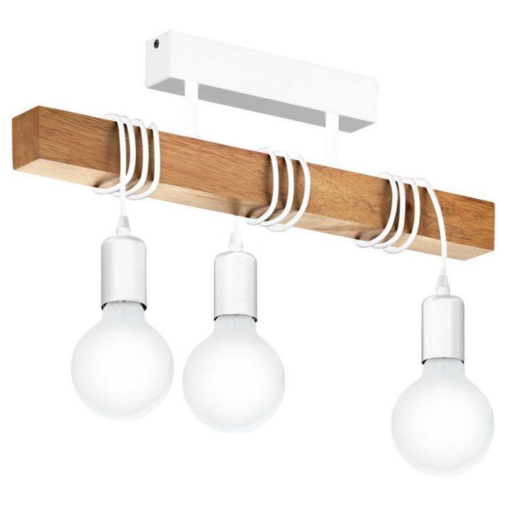 Medium Size of Deckenlampe Holz Deckenleuchte Townshend Aus Und Stahl In Wei 3xe27 Eglo Deckenlampen Für Wohnzimmer Massivholzküche Esstisch Massivholz Ausziehbar Wohnzimmer Deckenlampe Holz
