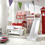Hochbett Kinderzimmer Kinderzimmer Hochbett Kinderzimmer Dolphin Moby Midisleeper Ber Eck Mit Rutsche Von Regale Regal Weiß Sofa