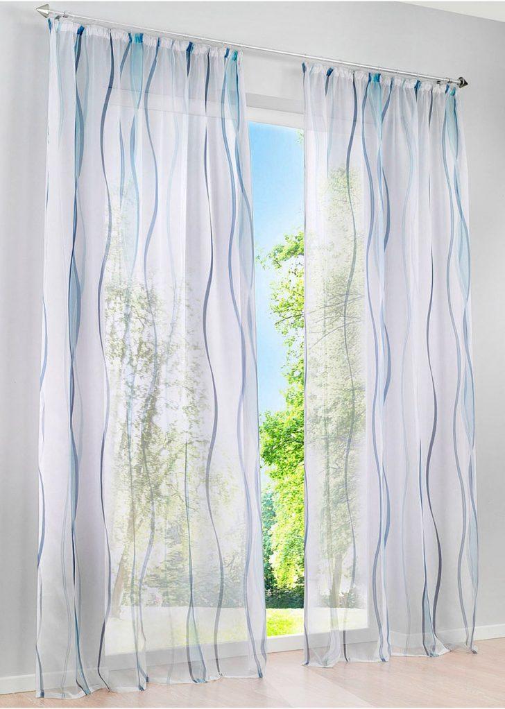 Medium Size of Transparente Gardine In Zeitlosem Design Wei Blau Gardinen Schlafzimmer Scheibengardinen Küche Für Wohnzimmer Bonprix Betten Die Fenster Wohnzimmer Bonprix Gardinen