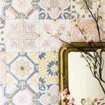 Küchentapete Tapete Isalie Gelb In 2020 Kchentapete Wohnzimmer Küchentapete