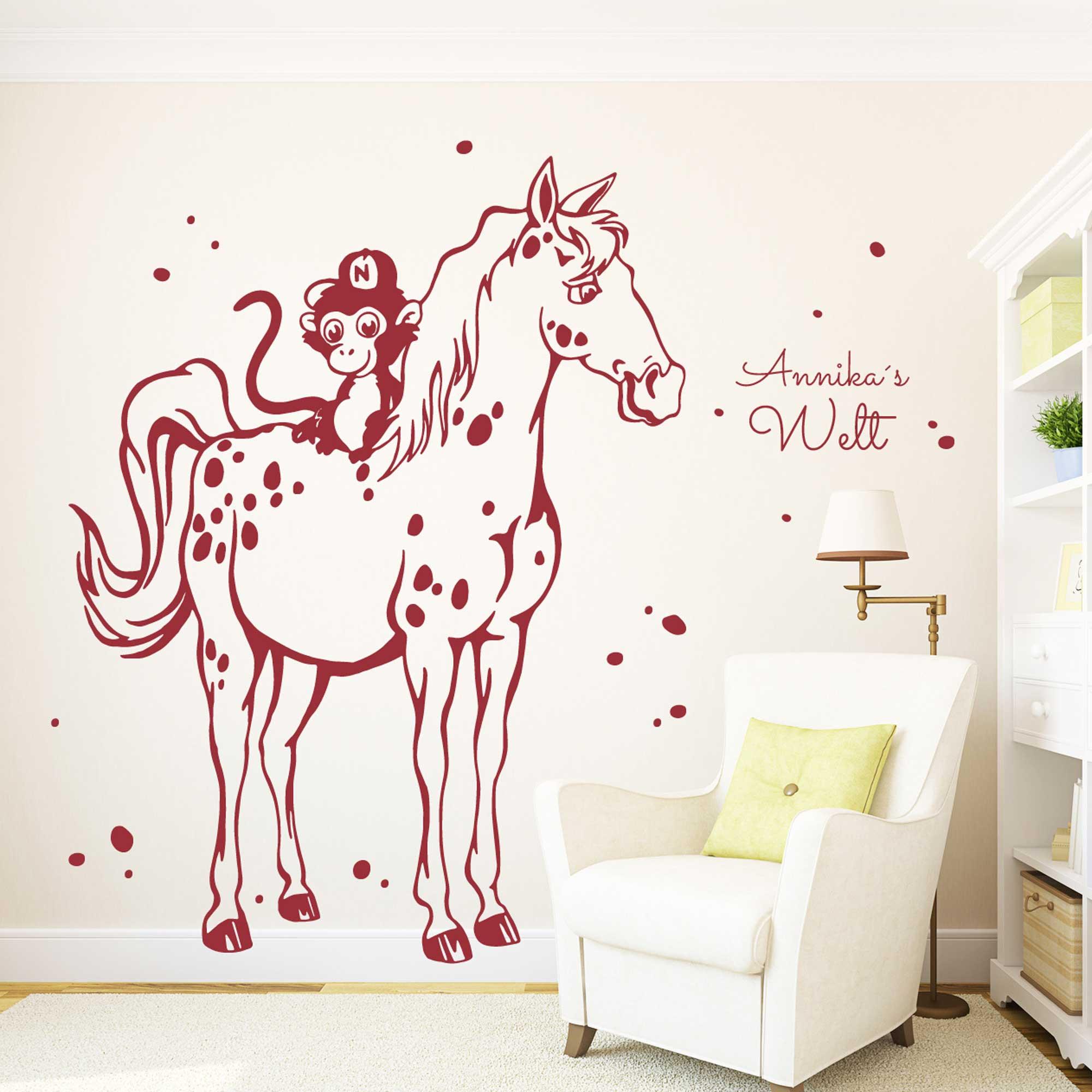 Full Size of Wandtattoo Pferd Schimmel Kleiner Onkel Mit Affe Und Wunschnamen Kinderzimmer Regal Sofa Weiß Regale Kinderzimmer Kinderzimmer Pferd