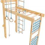 Klettergerüst Indoor Kidsmont Kombi Sprossenwand 5 In 1 Abnehmbar Klappbar Garten Wohnzimmer Klettergerüst Indoor