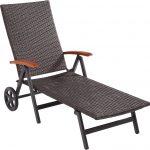 Sonnenliege Aldi Amazonde Ultranatura Polyrattan Rollliege Mit Armlehne Relaxsessel Garten Wohnzimmer Sonnenliege Aldi