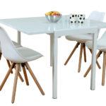 Paket 5tlg Essgruppe Esstisch Esszimmer Stuhl Sthle Glas Tisch Mit Bank 2m Wildeiche Weiß Oval Rund Stühlen Ausziehbar Akazie Runder Esstische Shabby Chic Esstische Stühle Esstisch