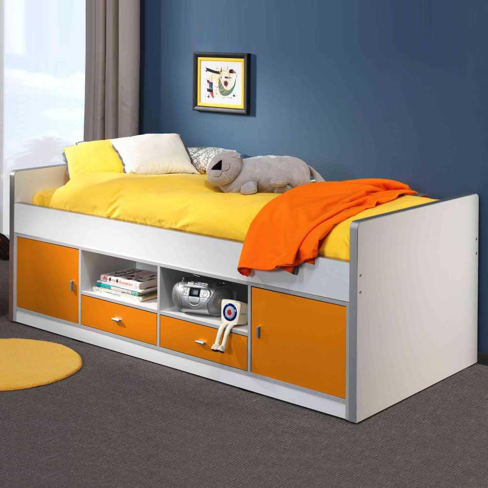 Full Size of Jugendbett Moonio In Wei Orange Mit Stauraum Wohnende L Sofa Schlaffunktion Ikea Mitarbeitergespräche Führen Bett Schubladen 90x200 Weiß 140x200 Lattenrost Wohnzimmer Jugendbett Mit Stauraum