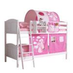Kinderzimmer Pferd Kinderzimmer Kinderzimmer Pferd Weies Vollholz Etagenbett Fr Mit Stoff In Pink Regal Weiß Sofa Regale