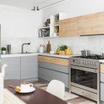 Küche Hellgrau Umziehen Kaufen Ikea Granitplatten L Form Unterschränke Vorhang Spülbecken Kochinsel Tapeten Für Was Kostet Eine Neue L Form Modulküche Wohnzimmer Küche Hellgrau