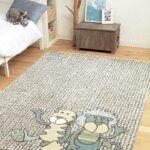 Teppiche Kinderzimmer Kinderzimmer Teppiche Kinderzimmer Sigikid Teppich Patchwork Sweety Beige Sand Blau Regale Regal Weiß Sofa Wohnzimmer