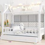 Kinderbett 120x200 Wohnzimmer Bett 120x200 Mit Matratze Und Lattenrost Betten Weiß Bettkasten