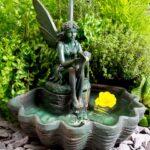 Gartenbrunnen Solar Wohnzimmer Gartenbrunnen Solar Fairy Auf Einer Muschel Solarbrunnen Mit Led Beleuchtung