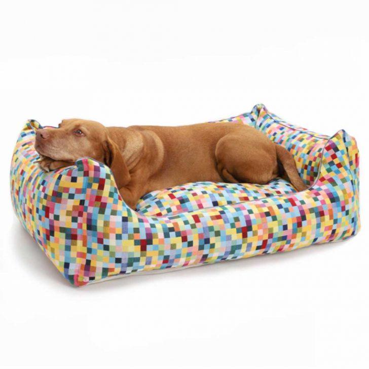 Medium Size of Hundebett Flocke Bitiba 125 Cm Kaufen Xxl Zooplus 90 Wolke 120 Funky Checks Wohnzimmer Hundebett Flocke