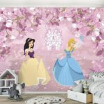 Kinderzimmer Prinzessin Kinderzimmer Kinderzimmer Prinzessin Fototapete Mdchen Vlies Real Prinzessinen Bett Regal Regale Weiß Sofa