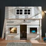 Hochbetten Kinderzimmer Kinderzimmer Hochbett Mit Haus Und Lattenrost Lifetime Hangout Regal Kinderzimmer Regale Sofa Weiß